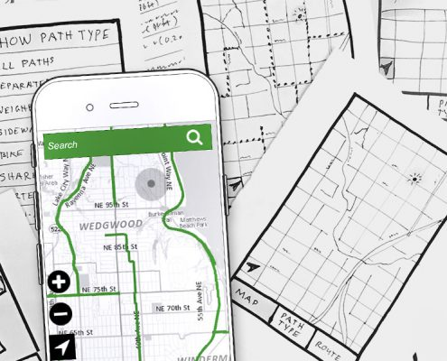 Bike Path App Prototype and Sketches